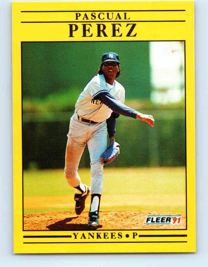 1991 Fleer Baseball Pascual Perez #675 on Kronozio