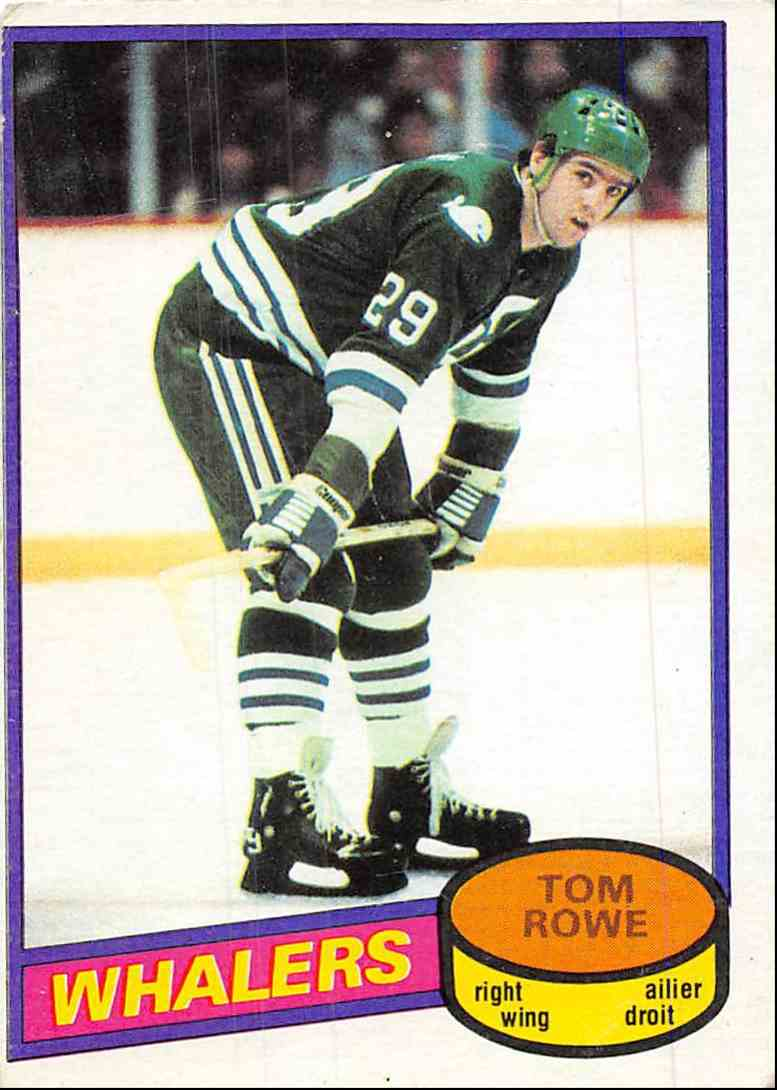 1980-81 O-Pee-Chee Tom Rowe #214 card front image