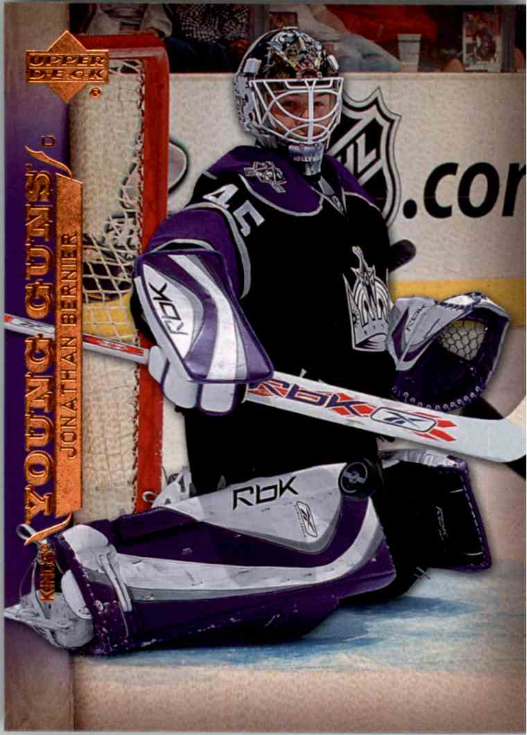 2007-08 Upper Deck Young Guns Yg Jonathan Bernier #223 card front image