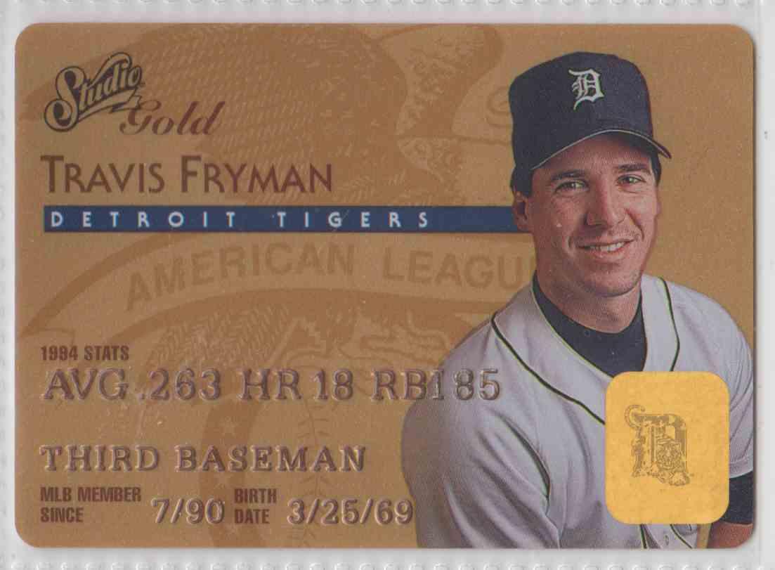 1995 Leaf Studio Gold Travis Fryman #27 card front image