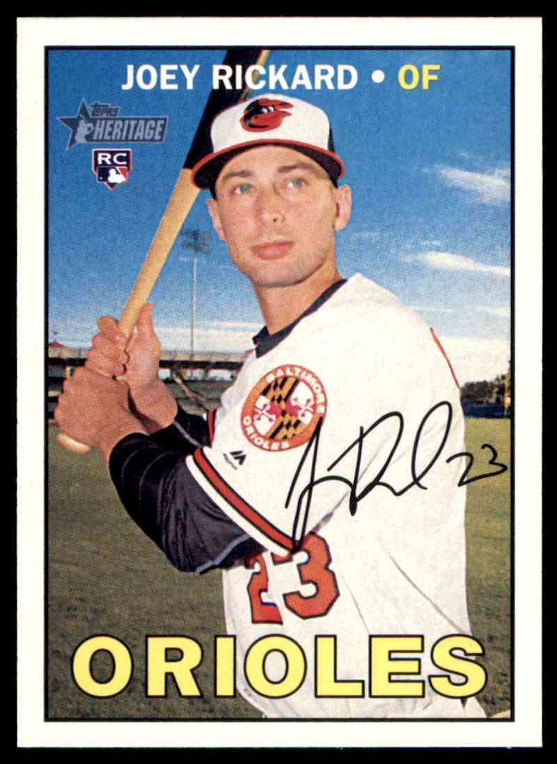 52354c3f7 2016 Topps Heritage Joey Rickard - Baltimore Orioles RC  566 card front  image