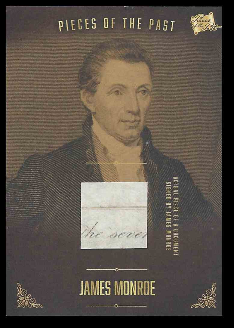 2017 The Bar Pieces Of The Past James Monroe #PRJM01 card front image