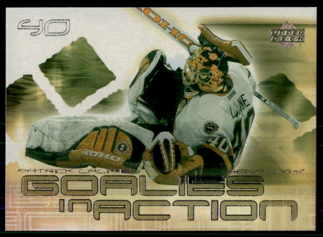 2001-02 Upper Deck Goalies In Action Patrick Lalime #GC8 card front image
