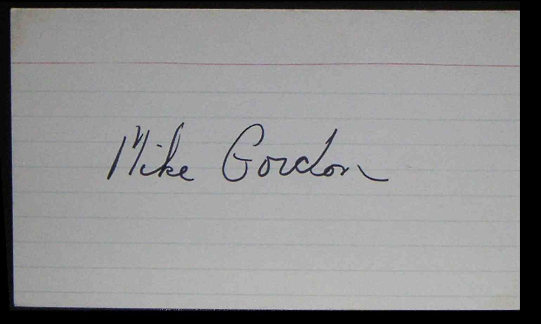 1976 3X5 Mike Gordon card back image