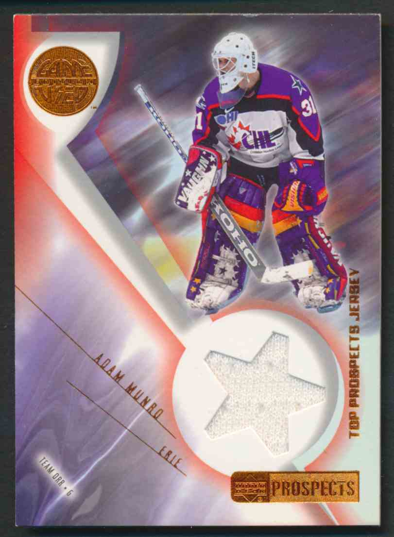 2001-02 Upper Deck CHL Prospects Adam Munro #J-AM card front image