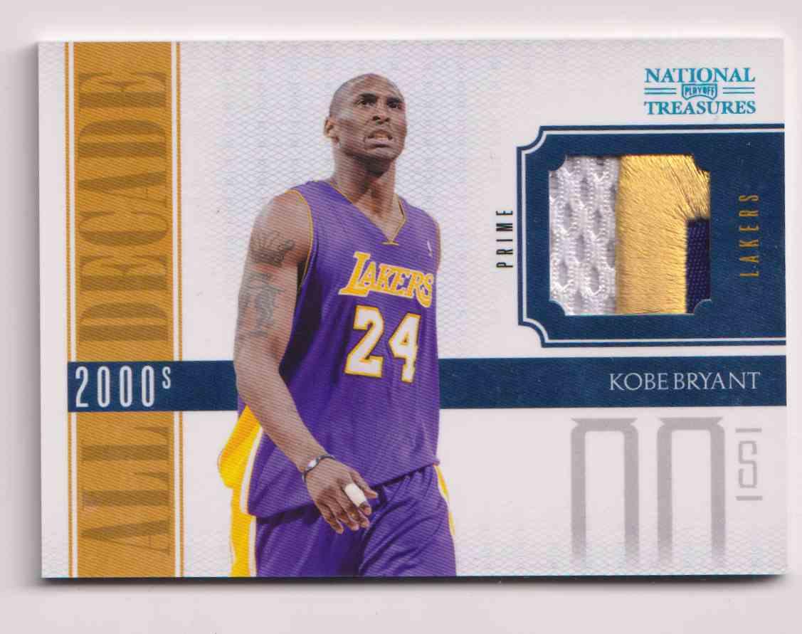 2010-11 Panini Panini National Treasures All Decade Patch Kobe Bryant #18 card front image