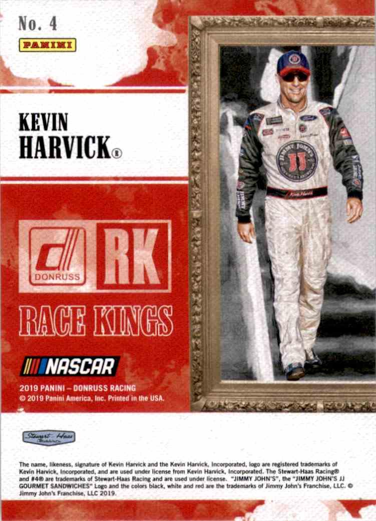 2019 Donruss Kevin Harvick #4 card back image