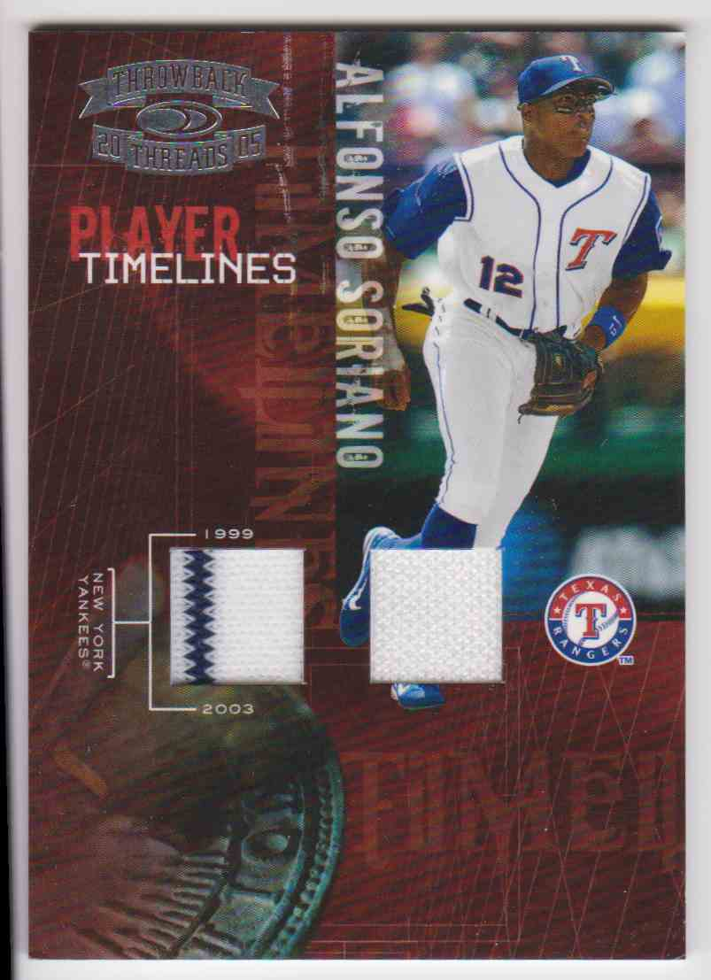 huge selection of 5206b 43ba5 2005 Throwback Threads Alfonso Soriano Jersey 2 Colors /100 ...