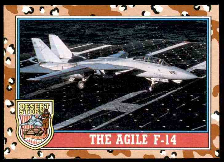1991 Desert Storm Topps The Agile F-14 #114 card front image