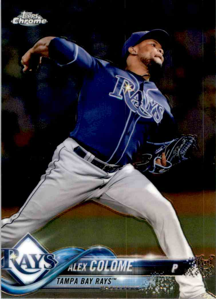 2018 Topps Chrome Alex Colome #30 card front image