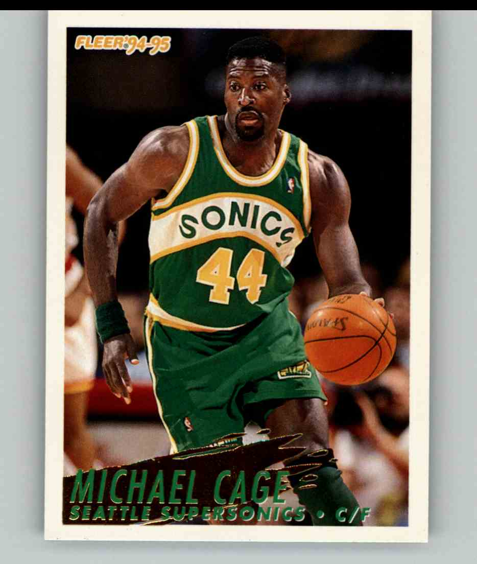 1994-95 Fleer Michael Cage #211 card front image