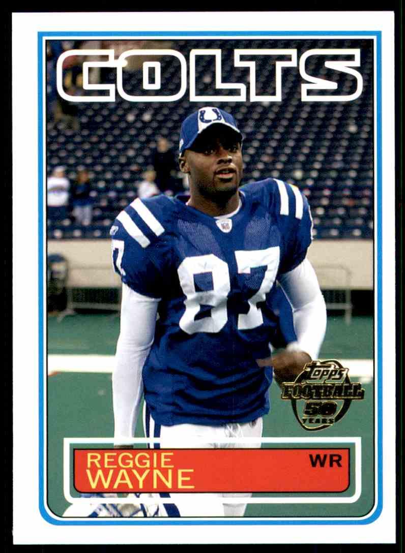 2005 Topps Throwbacks Reggie Wayne #TB28 card front image