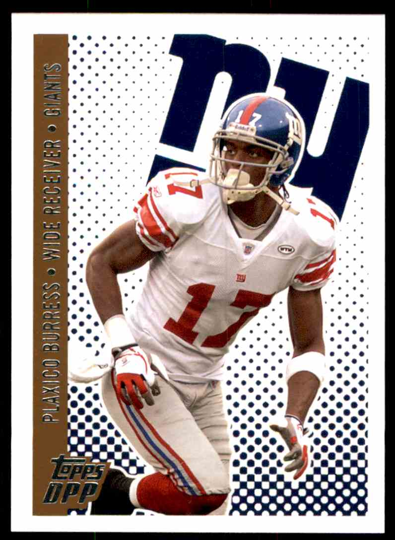 2006 Topps Draft Picks and Prospects Plaxico Burress #1 card front image