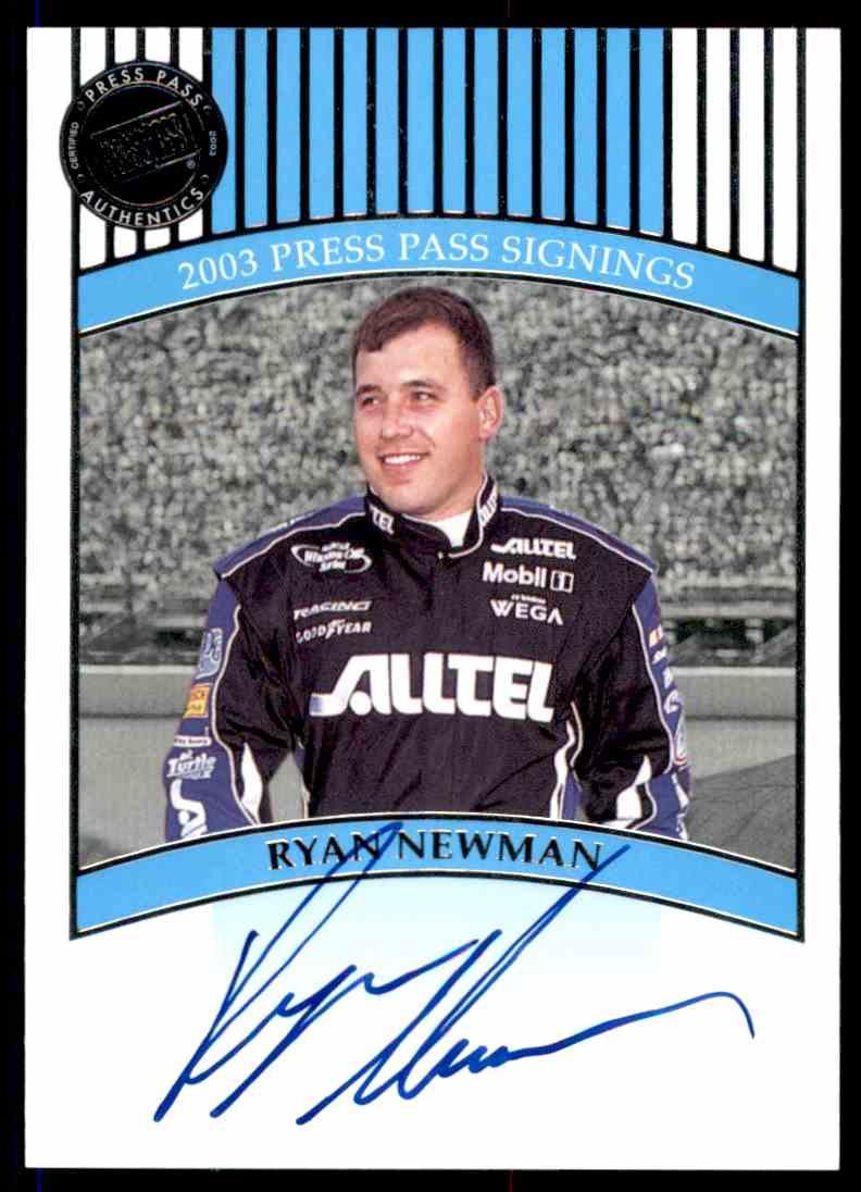2003 Press Pass Ryan Newman card front image