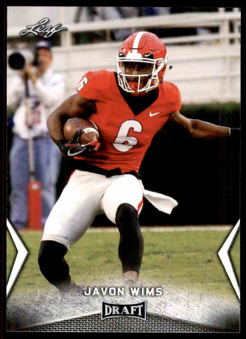 2018 Leaf Draft Javon Wims #28 card front image