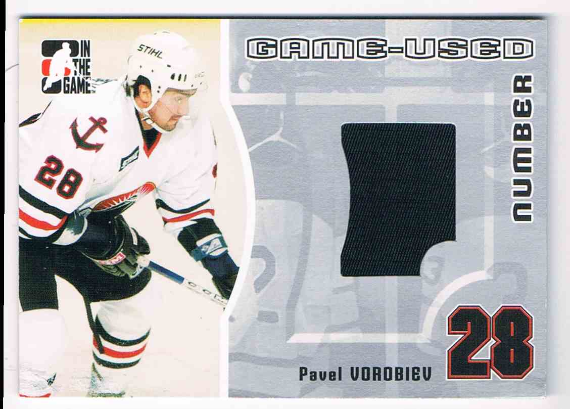 2005-06 ITG In The Game Heroes And Prospects Game-Used Number Pavel Vorobiev #GUN-30 card front image