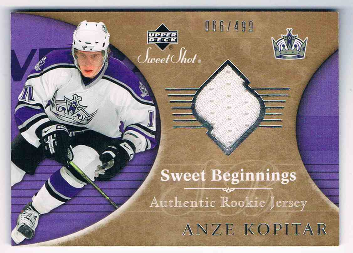 2006-07 Upper Deck Sweet Shot Authentic Rookie Jersey Anze Kopitar #130 card front image