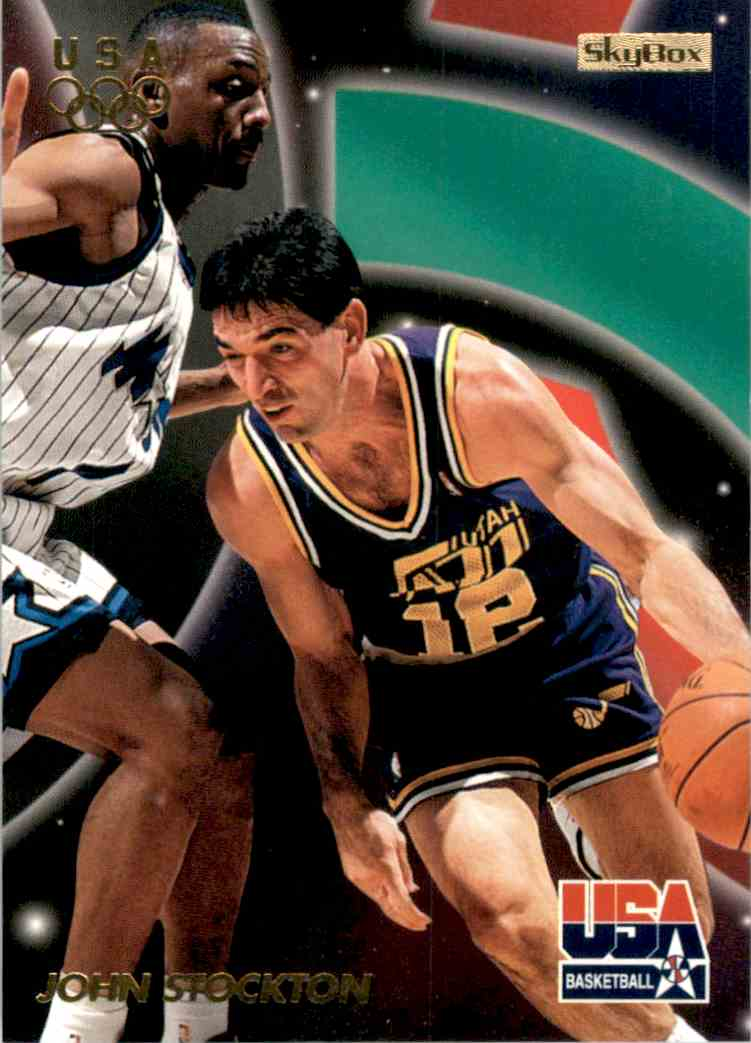 1996-97 SkyBox USA John Stockton Gs #10 card front image