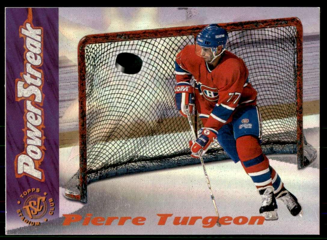 1995-96 Stadium Club Power Streak Pierre Turgeon #P81 card front image