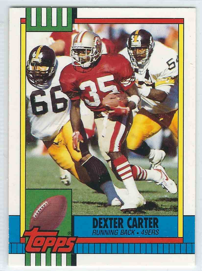 1990 Topps Traded Dexter Carter #33T card front image