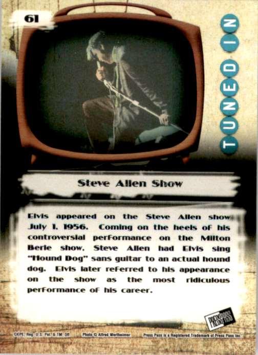 2007 Elvis The Music Steve Allen Show #61 card back image