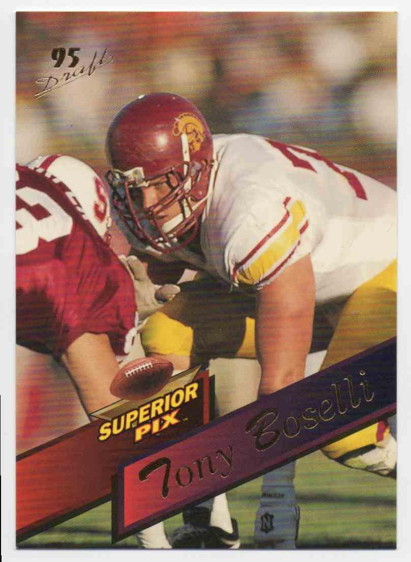 1995 Superior Pix Tony Boselli #2 card front image