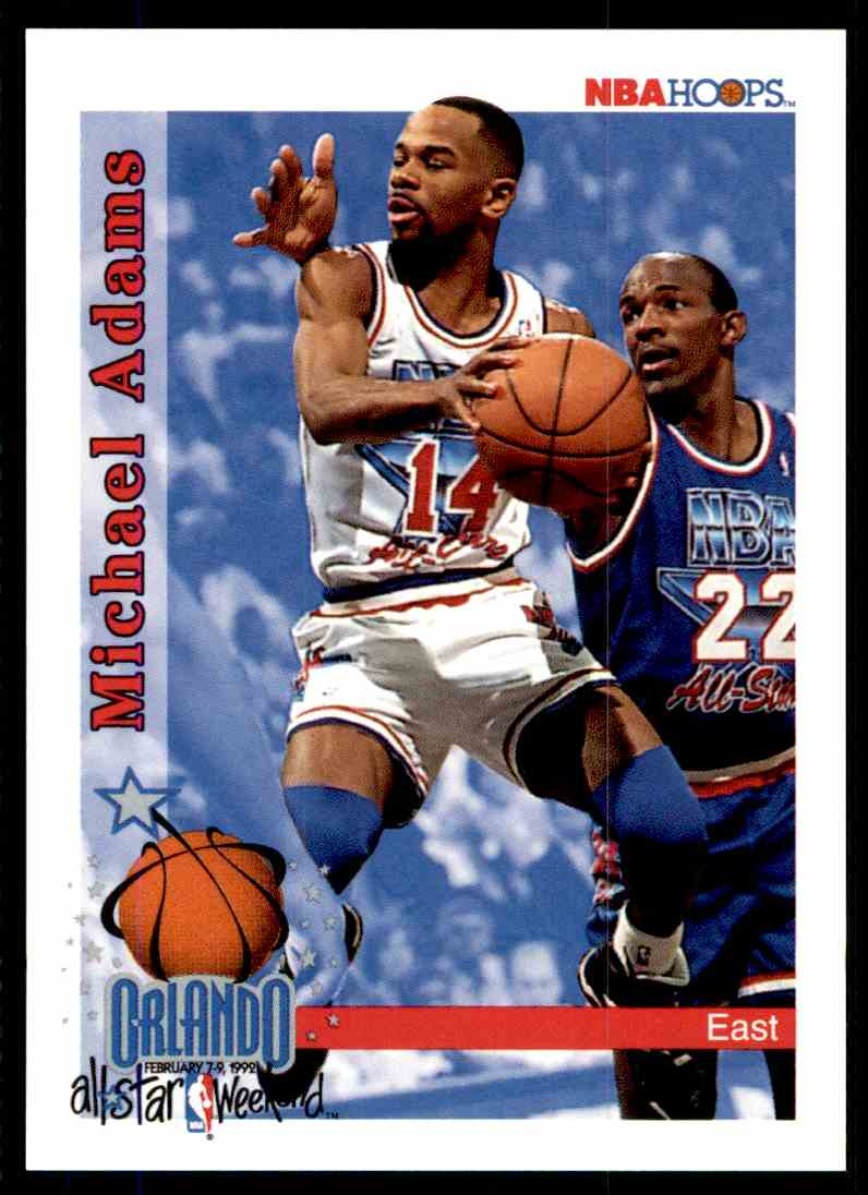 1992-93 Hoops Michael Adams #293 card front image