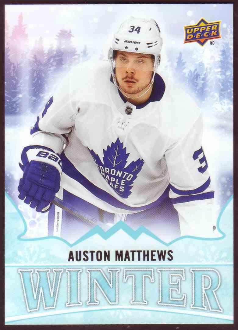 2019-20 Upper Deck Singles Day Winter Bounty Auston Matthews #W17 card front image