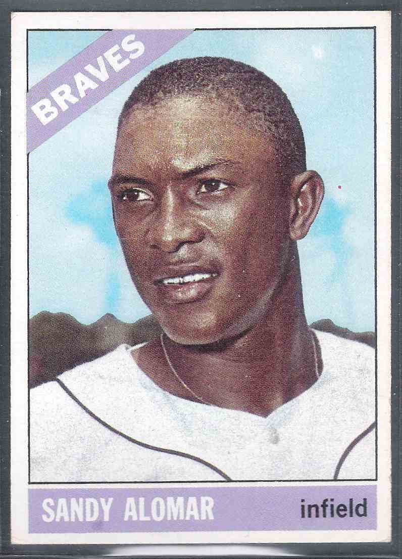 1966 Topps Sandy Alomar #428 card front image