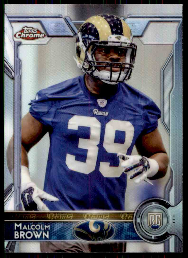 2015 Topps Chrome Refractor Macolm Brown #184 card front image