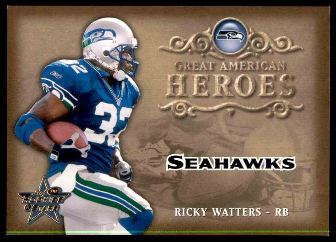 2002 Leaf Rookies & Stars Great American Heroes Ricky Watters card front image