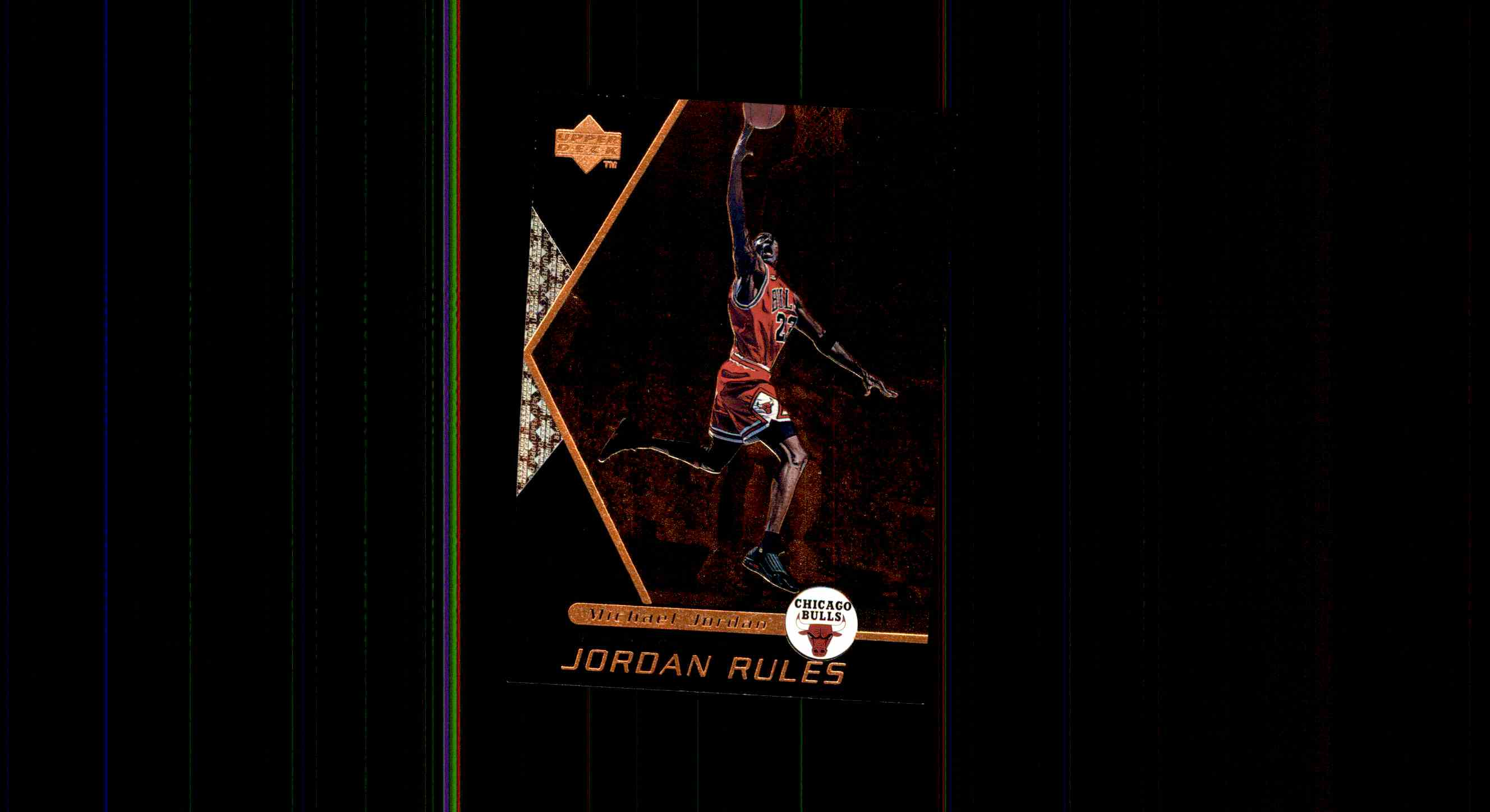 1998 99 Upper Deck Ovation Jordan Rules Michael J1 Card Front Image
