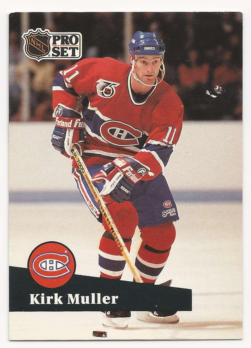 1991-92 Pro Set Kirk Muller #412 card front image
