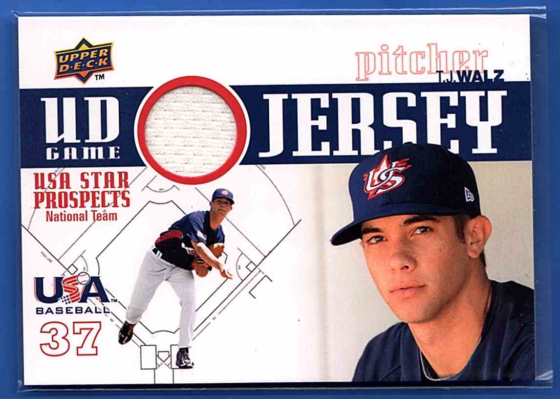 2009 Upper Deck Signature Stars USA Star Prospects Jerseys T.J. Walz #GJU37 card front image