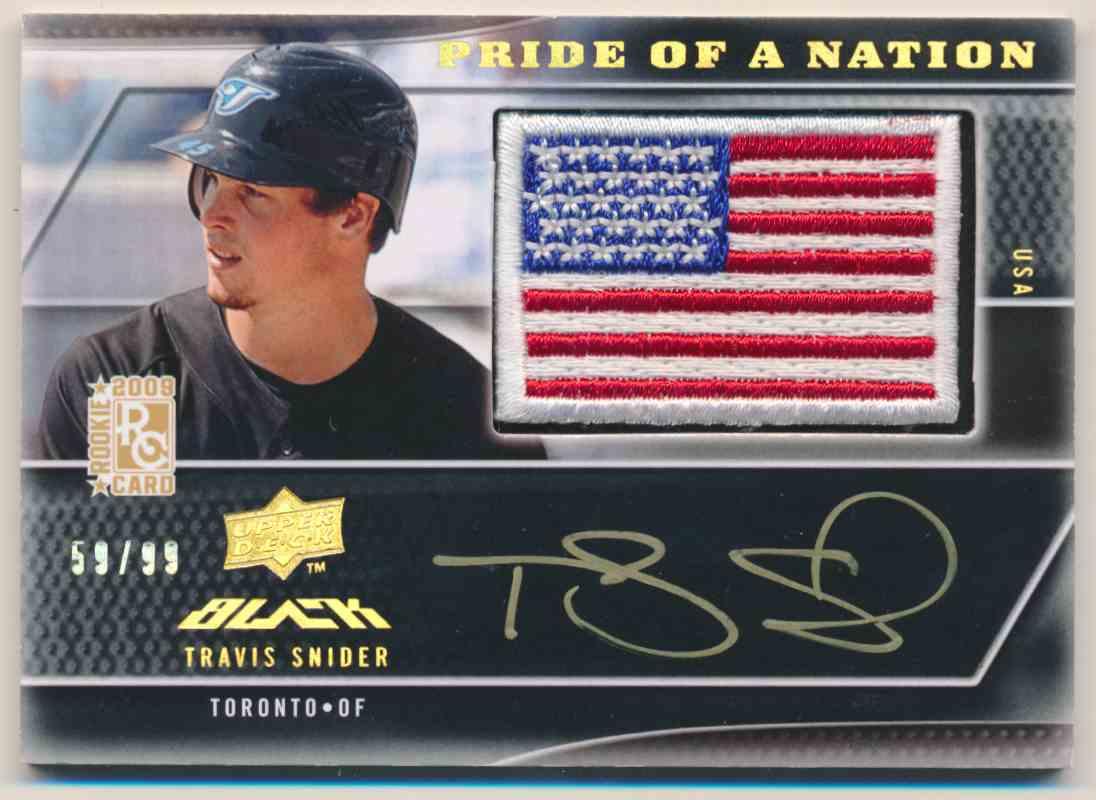2009 Upper Deck Pride Of A Nation Travis Snider #29 card front image