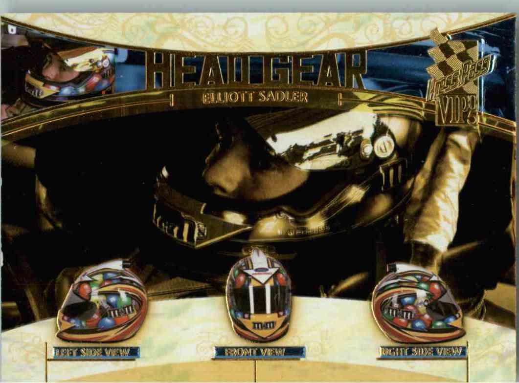 2005 Press Pass Vip Head Gear Elliot Sadler #HG9 card front image