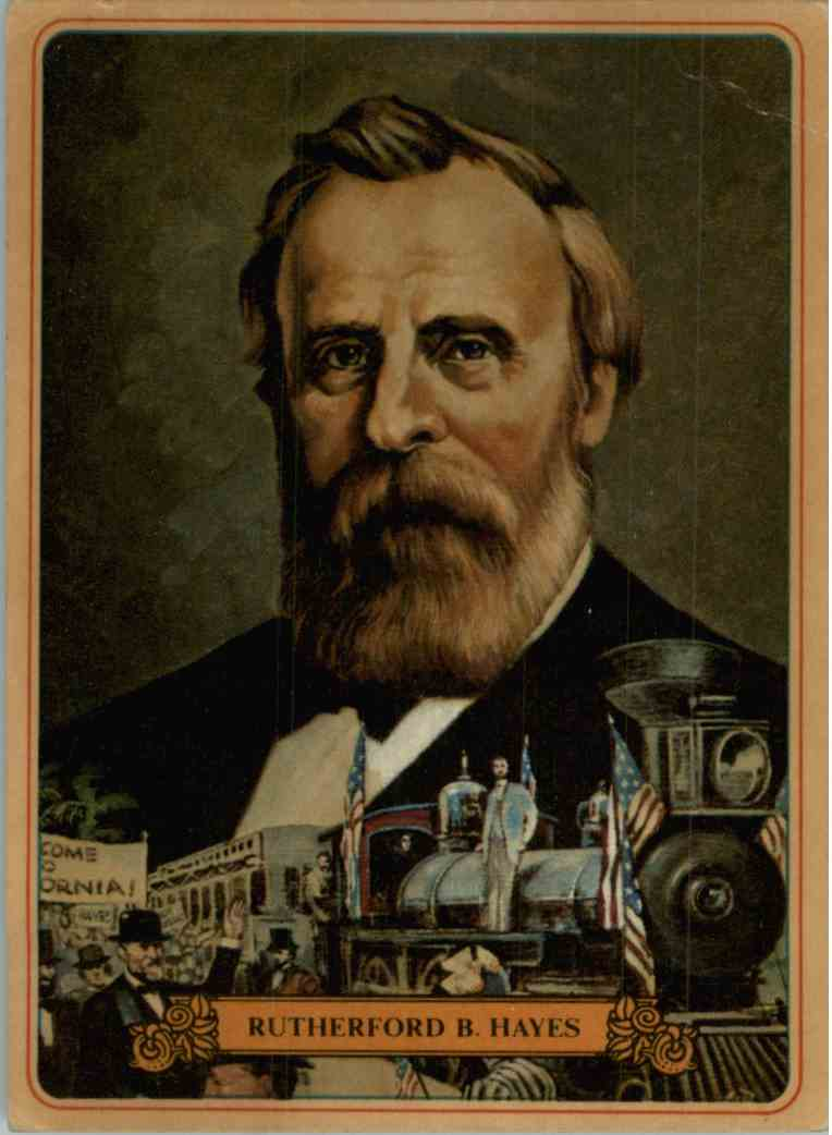 1976 Bel-Art Manor Rutherford B. Hayes #19 card front image