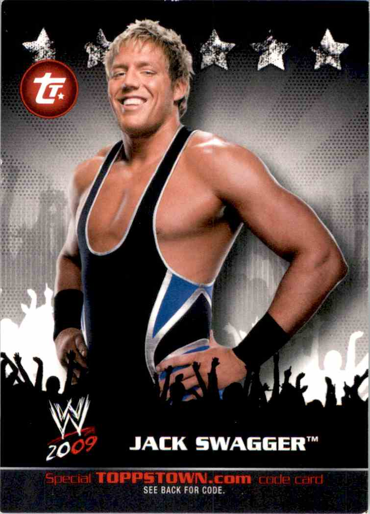 2009 Topps Wwe Topps Town Jack Swagger #11 card front image