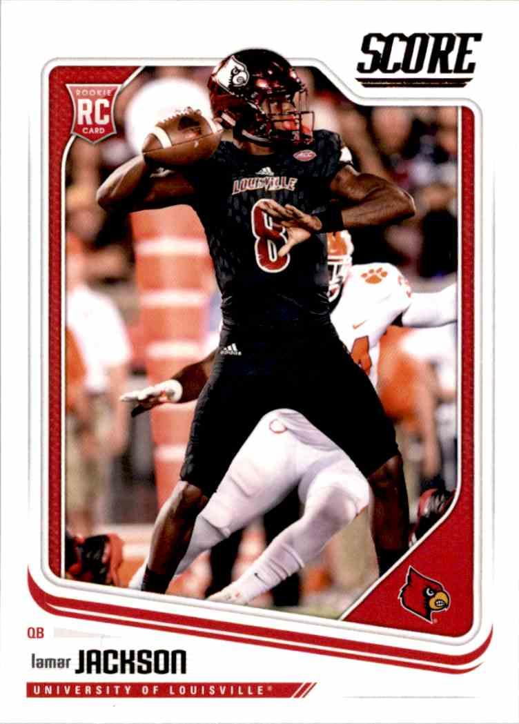 2018 Panini Score Lamar Jackson #352 card front image