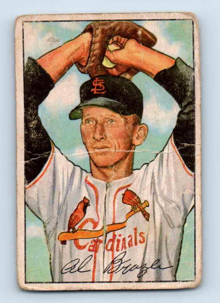 1952 Bowman Al Brazle #134 card front image