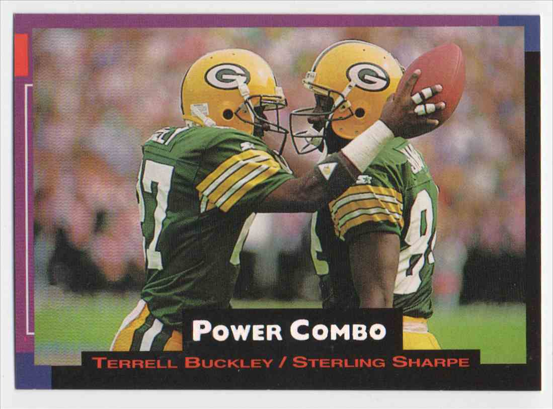 1993 Pro Set Power Power Combo Silver Sterling Sharpe #2 card front image