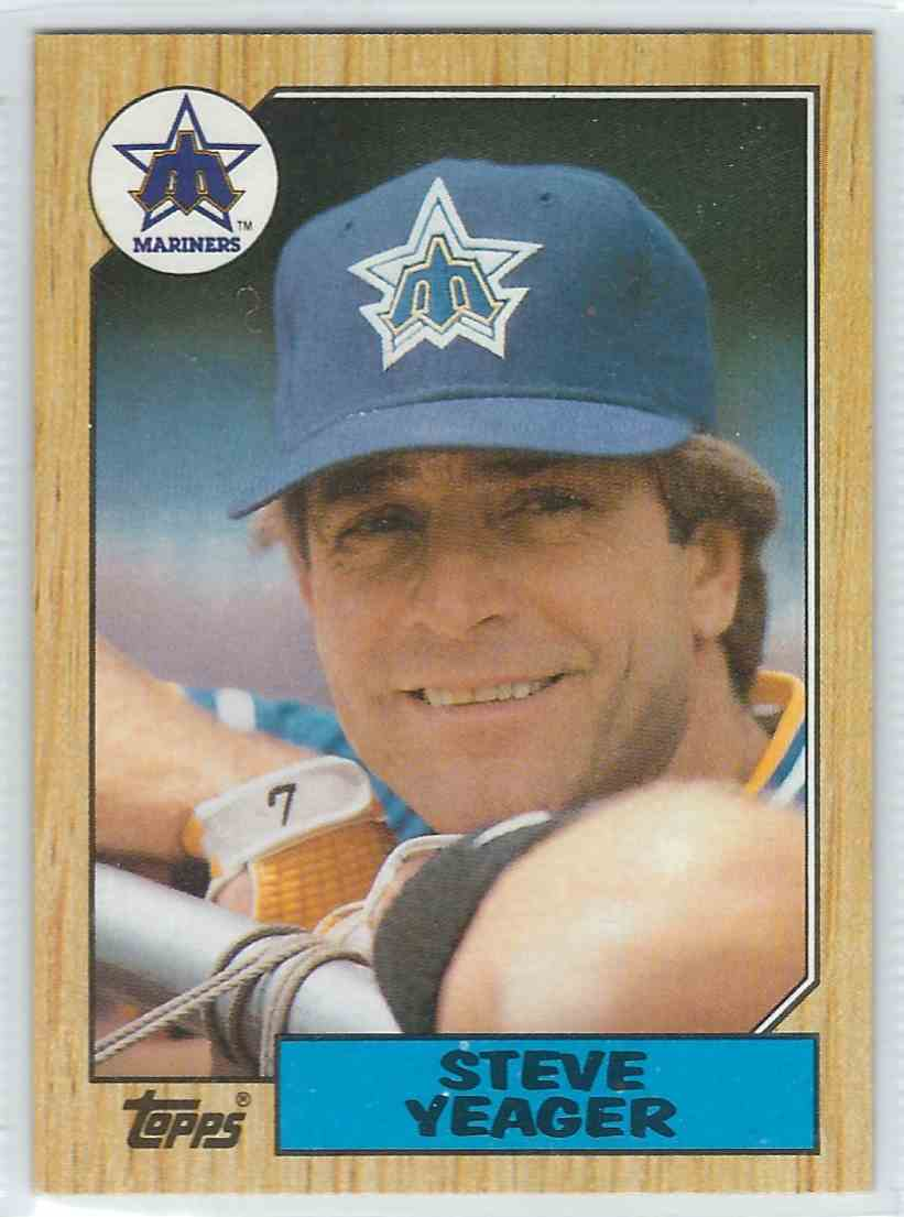 1987 Topps Steve Yeager #258 card front image