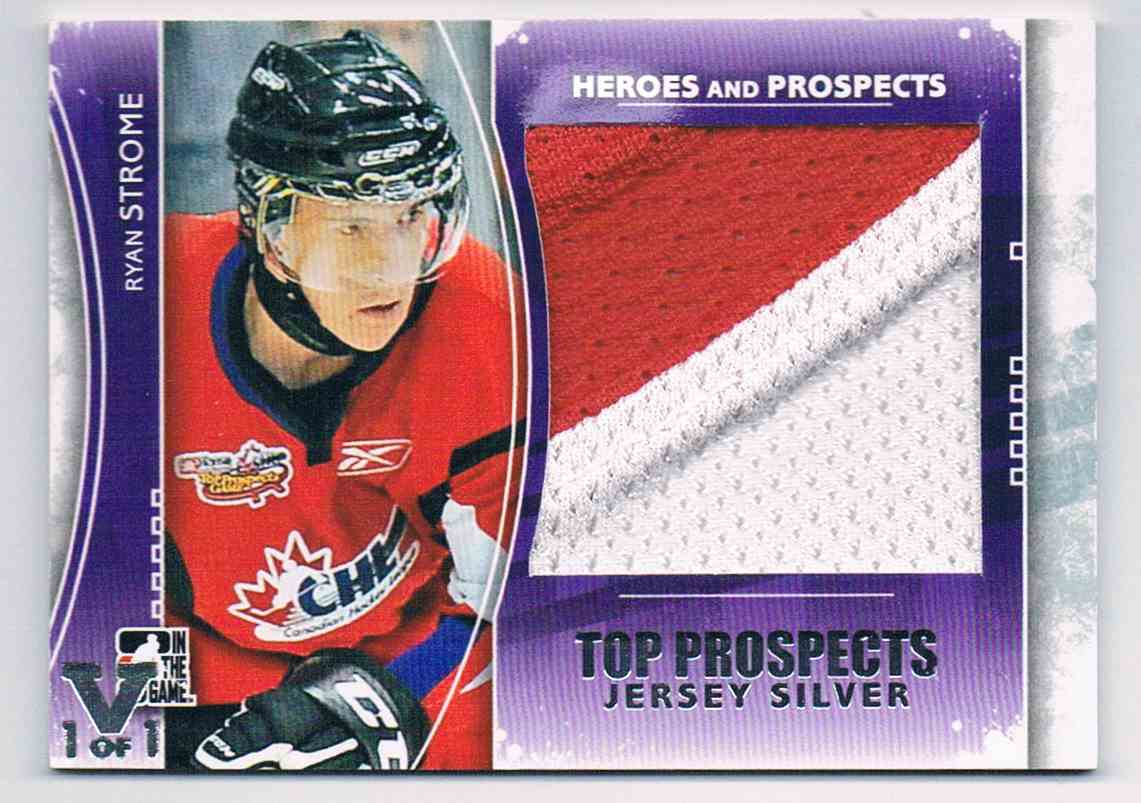 2011-12 ITG In The Game Top Prospects Jersey Silver Vault 1 Of 1 Ryan Strome #TPM-20 card front image