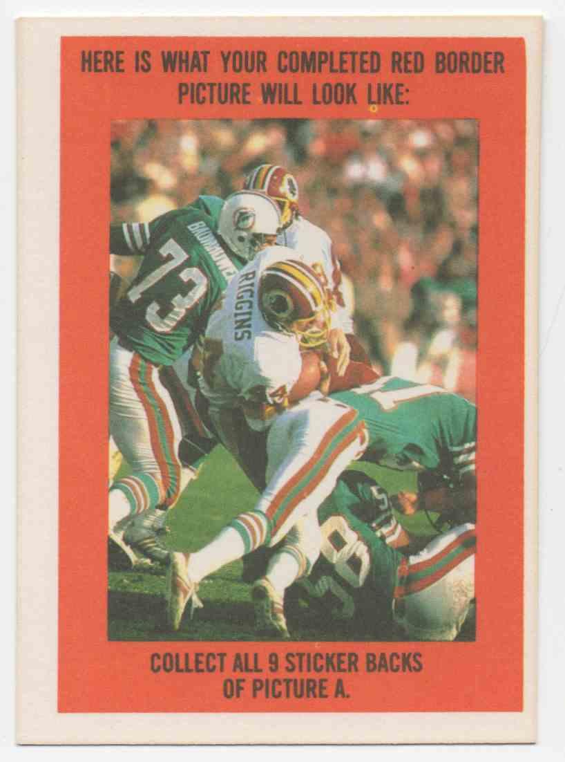 1983 Topps Sticker Insert Marcus Allen #1 card back image