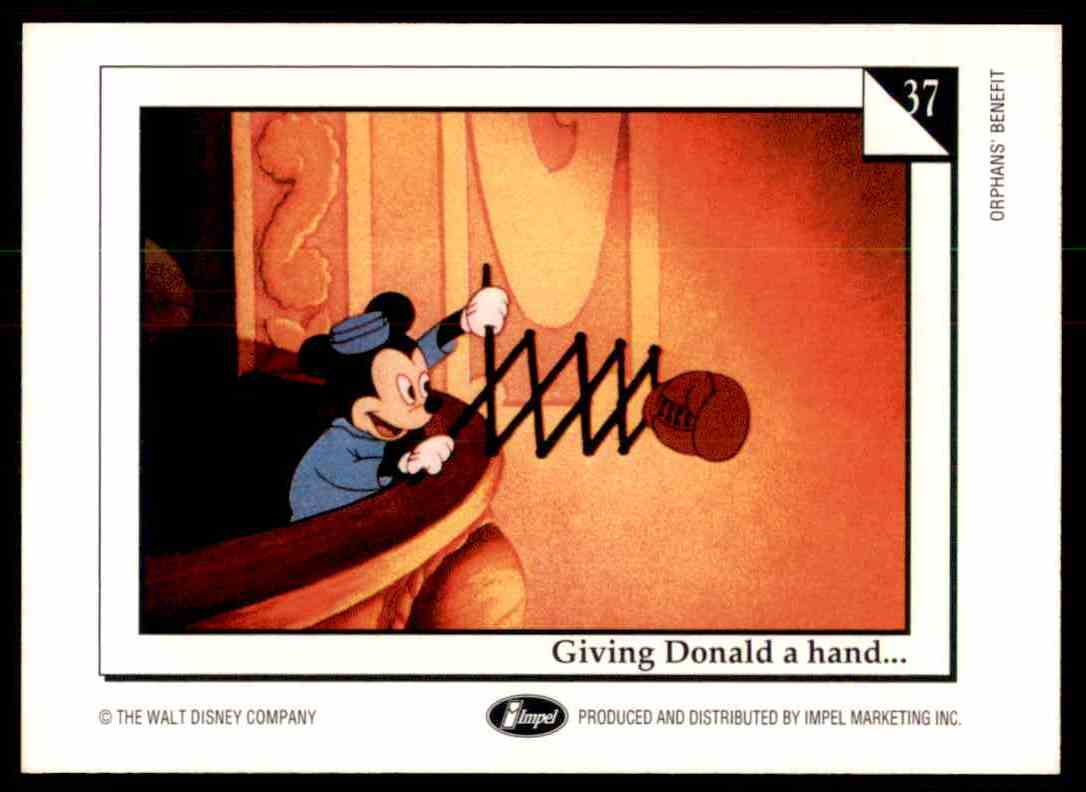 1991 Disney Series One Caveman Ballet #37 card back image