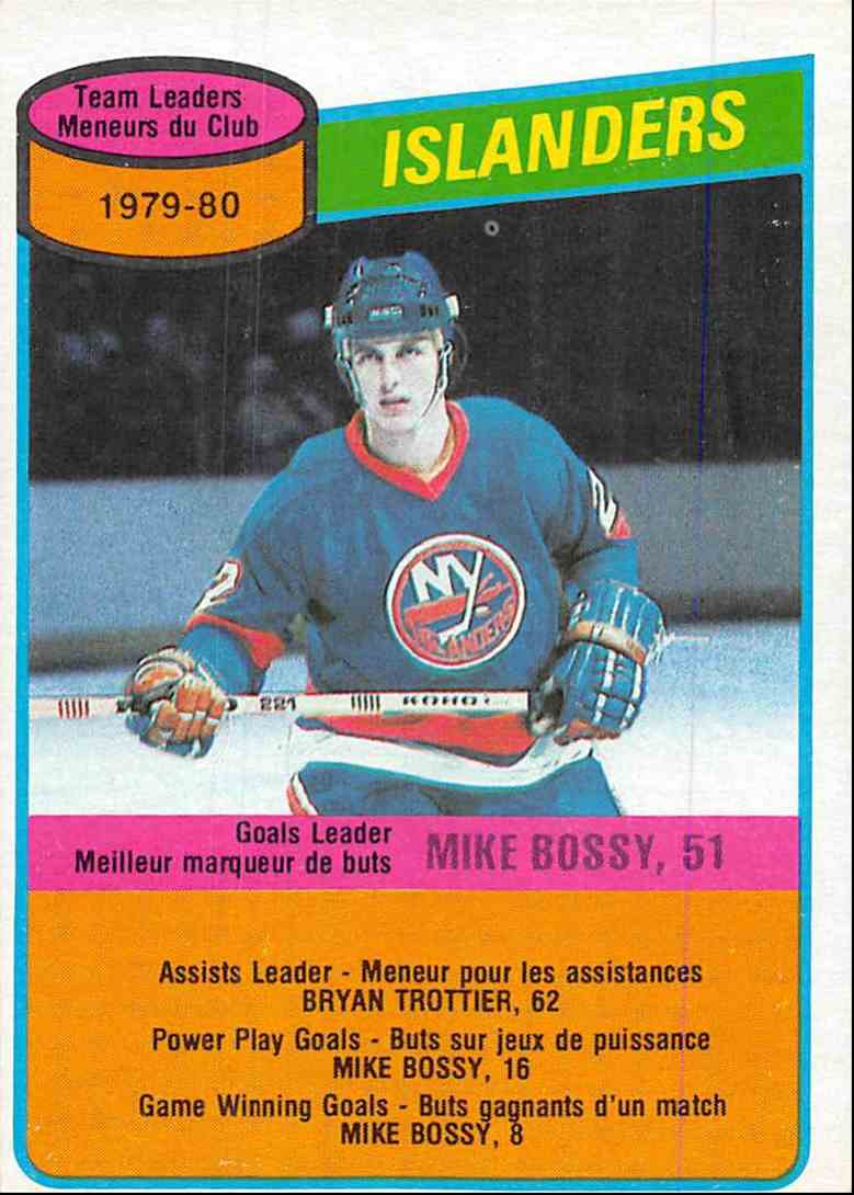 1980-81 O-Pee-Chee Mike Bossy #204 card front image