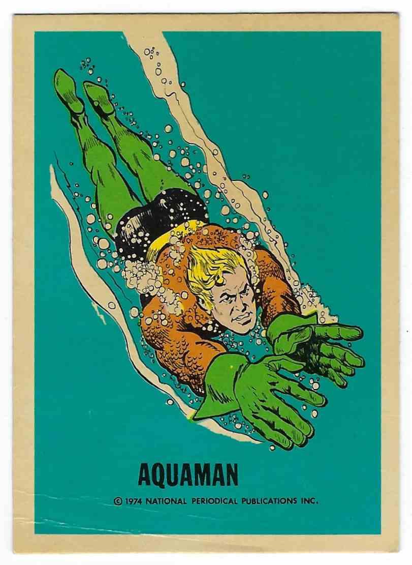 1974 Wonder Bread DC Universe Aquaman card front image