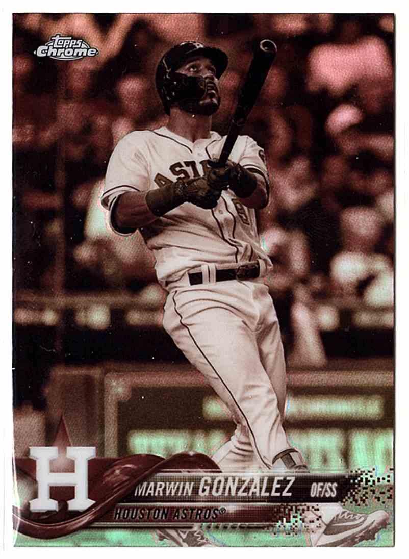 2018 Topps Chrome Sepia Refractors Marwin Gonzalez #38 card front image