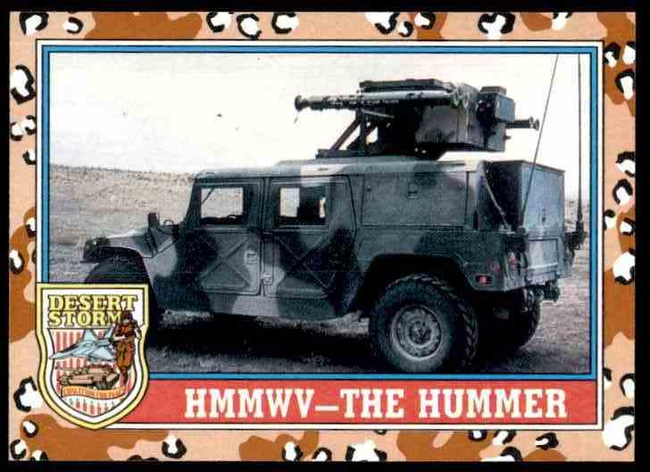 1991 Desert Storm Topps Hmmwv The Hummer #99 card front image