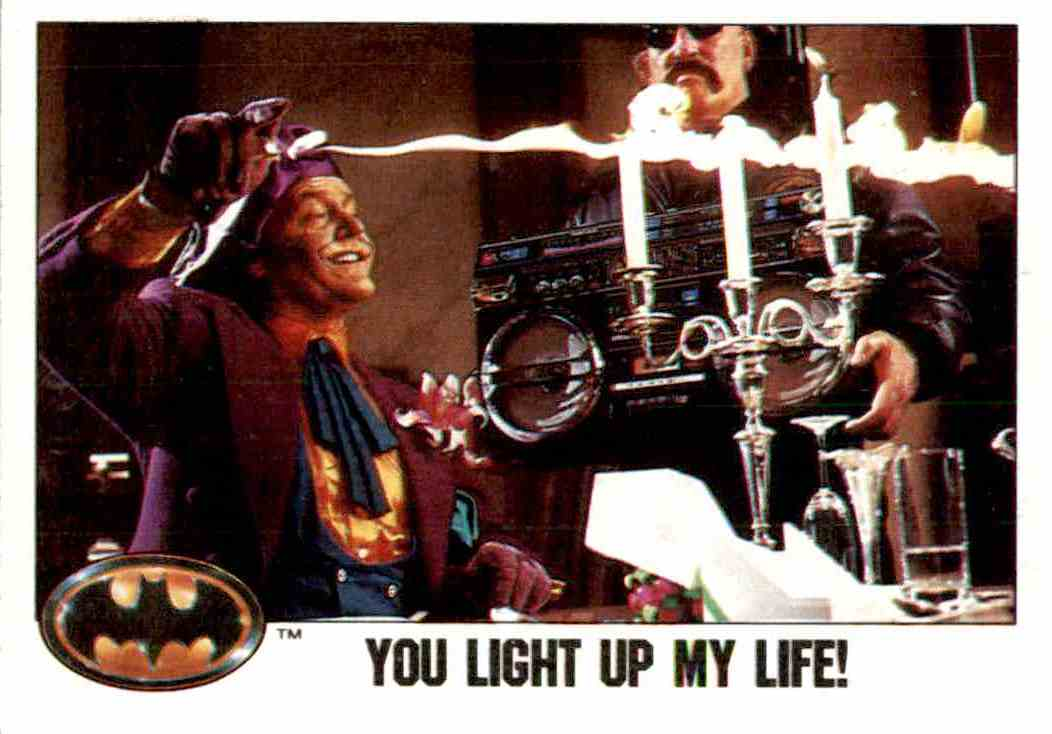 1989 Topps Batman You Light Up My Life #70 Card Front Image